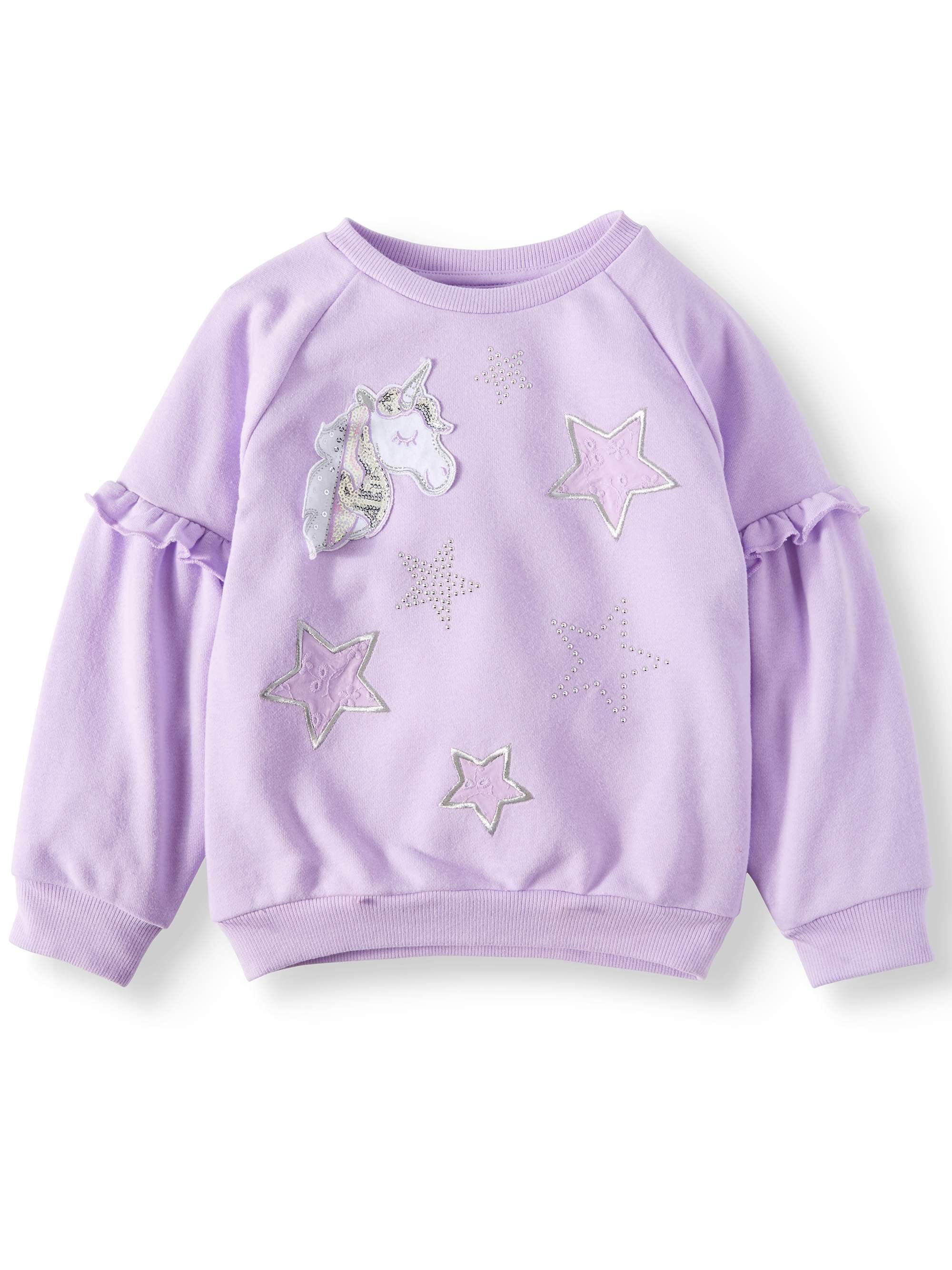 Puff Sleeve French Terry Sweatshirt (Little Girls & Big Girls)