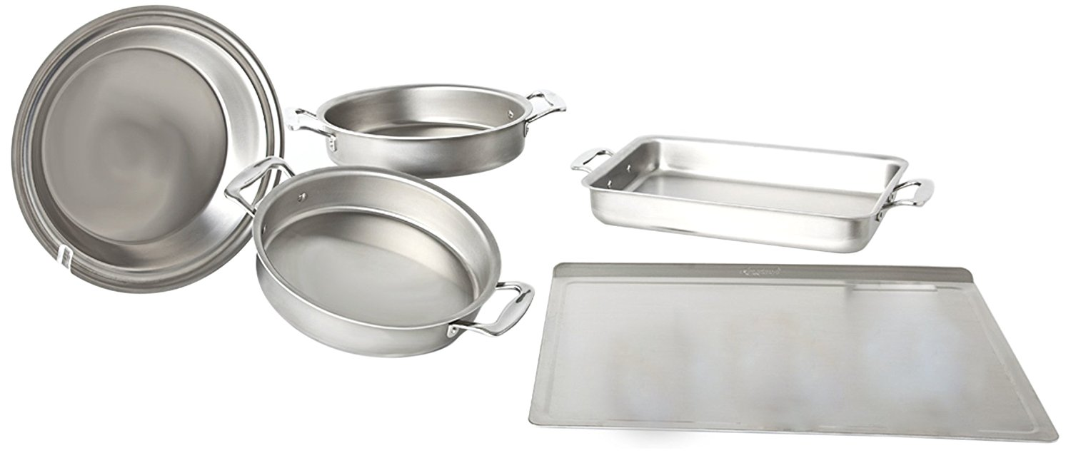 360 Cookware Premium Stainless Steel 5 Piece Bakeware Set by