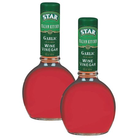 Italian Star ((2 Pack) Star? Italian Kitchen Garlic Red Wine Vinegar 12 fl. oz. Glass Bottle )