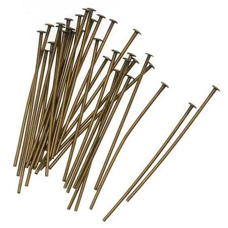 - Antiqued Brass Head Pins 1 Inches / 22 Gauge (X50)