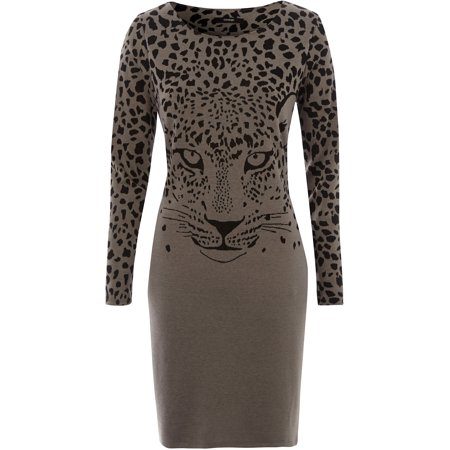 George UK - Women s Animal Print Dress - Walmart.com 37ac7179a