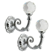 Phoenix Gl Crystal Window Curtain Holdbacks Hooks Durable Alloy Metal Drapery Tie Backs