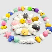 Mochi Squeeze Cat Toys, 36 Pcs Mini Mochi Squishy Mochi Animal Cat Squishy Mini Squishy Stress Relief Animals Squihsy Squeeze Stress Cat Toys Mochi Squeeze Squishy Random