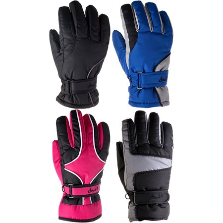 Cloud 9- Kids Cold Weather Waterproof Thinsulate Ski Gloves Girls Boys 3M Thinsulate Lined Kids Ski Gloves (Price for 1 Pair, Choose your color) Extreme Cold Weather Gloves