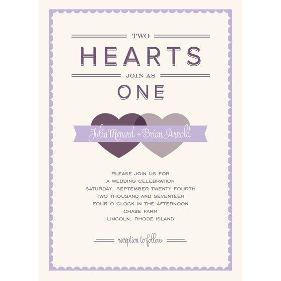 Walmart Com Wedding Invitations: Two Hearts Standard Wedding Invitation