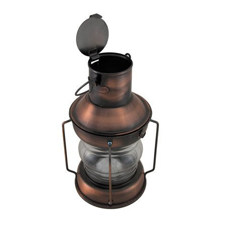 Rustic Battery Operated Antique Copper Finish Metal Lantern - image 3 of 5