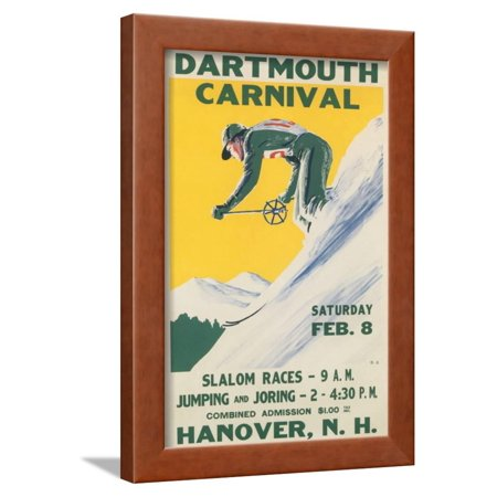Poster for Dartmouth Skiing Carniival Framed Print Wall Art