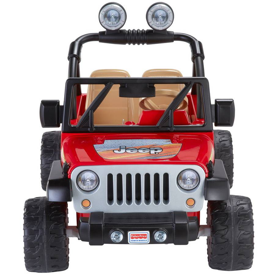 power wheels jeep wrangler 12 volt battery powered ride on red walmartcom