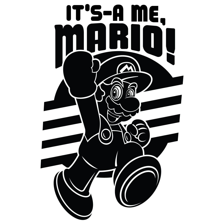 Super Mario Bros Minimalist Art Print Video Game Prints Mario! It/'s a me Video Game Poster. Wall Art A3 Poster Print