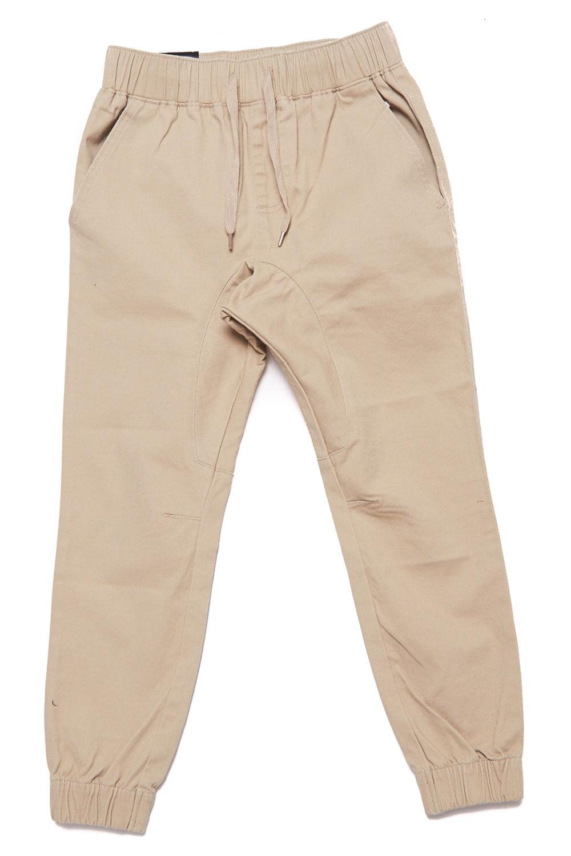 Boys Casual Bending Elastic Drawstring Jogger Pants COKJ-71-4-Black