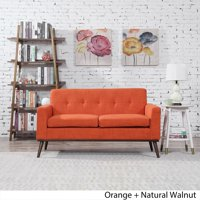 Christopher Knight Home Stormi Mid Century Modern Fabric Loveseat by