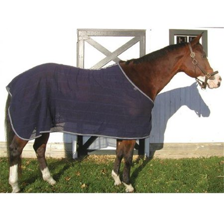 High Spirit Horse Equipment PIKSSNY Irish Knit Anti Sweat Sheet, Navy -