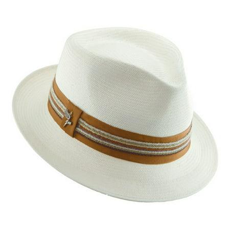 44bdf2b5a Men's Shantung Salvador Pinch Front Fedora Hat, Size: Large