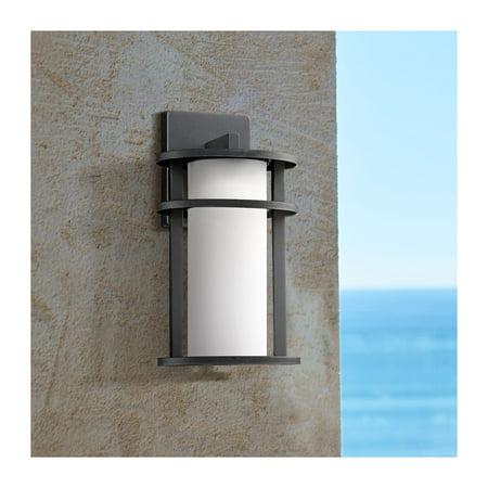 John Timberland Modern Outdoor Wall Light Fixture LED Black 13
