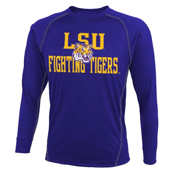 LSU Tigers Long Sleeve Speedwick Performance Shirt
