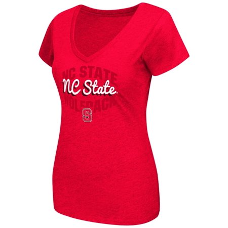 North Carolina State Wolfpack Womens Ncaa  Gamma  V Neck Dual Blend T Shirt