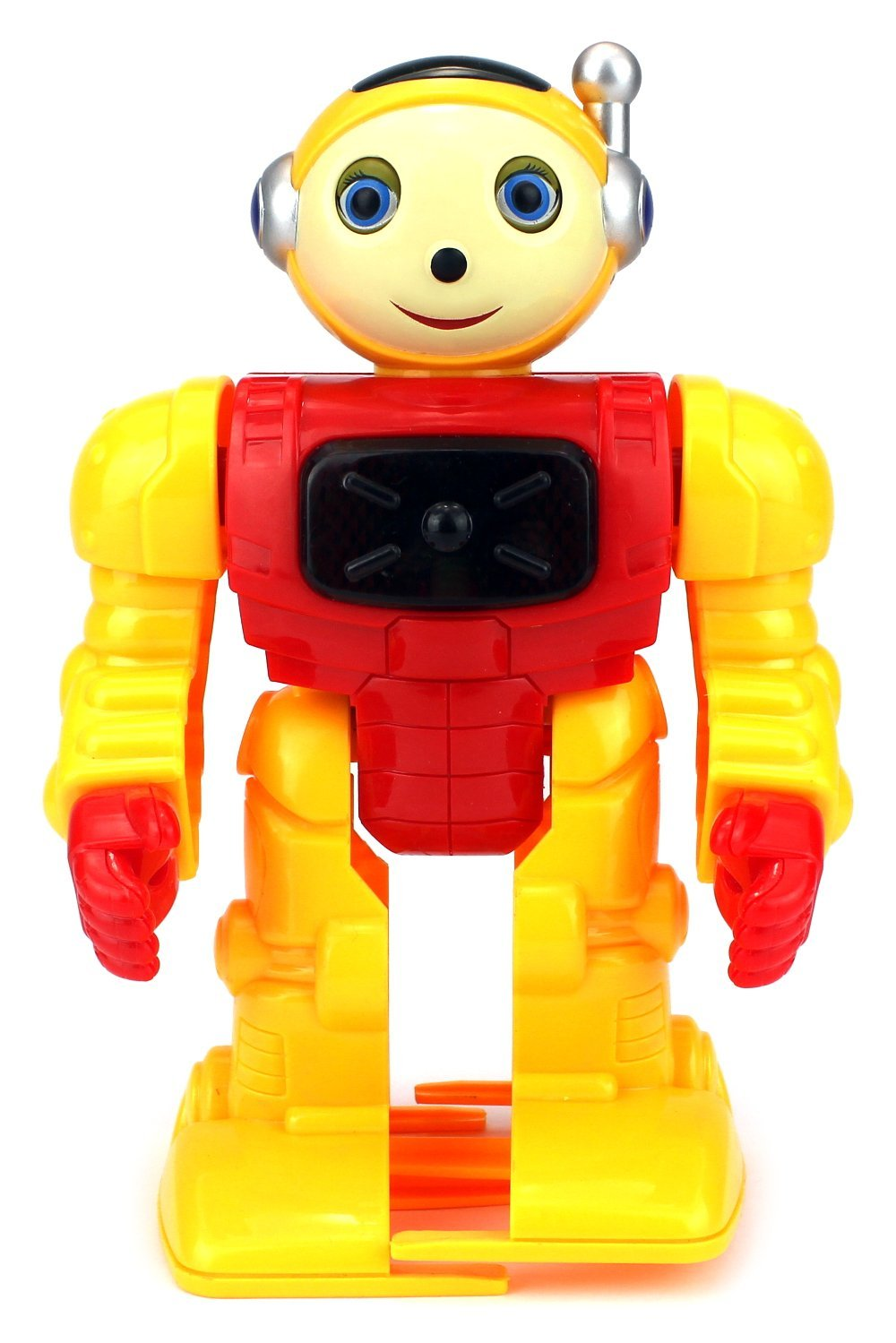 VT Space Robot Warrior Battery Operated Toy Figure w  Flashing Lights, Sounds (Colors May... by Velocity Toys