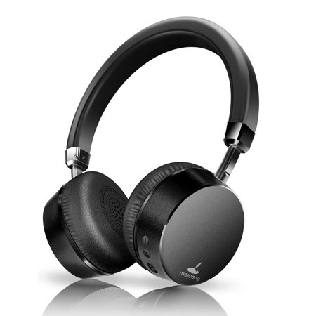 Meidong E6 Active Noise Cancelling Headphones Metal Bluetooth Headphones with Microphone Wireless Stereo Headphones On-Ear, Ergonomic Design for Travel Work TV