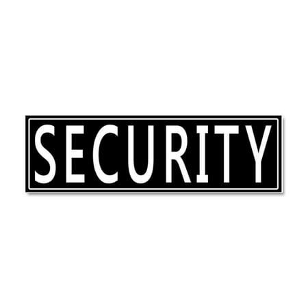 CafePress - Security - Car Magnet 10 x 3