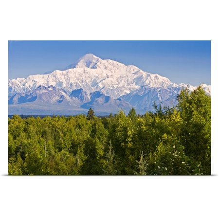 Great Big Canvas Poster Print Entitled Southside View Of Mt  Mckinley Summer  Southcentral  Alaska