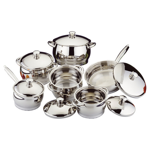 BergHOFF International Stainless Steel 12-Piece Cookware Set by BergHOFF International