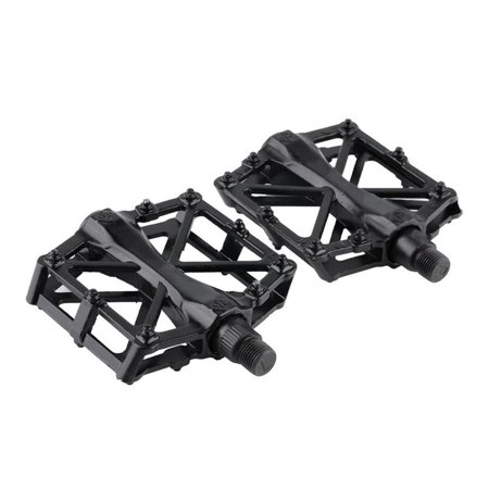 Pair Aluminum Alloy Flat Platform Bicycle Cycling Riding Pedals Treadle - image 1 of 8