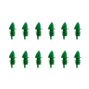 Free-Flow Liquor Bottle Pourers - Set of 12 - Green