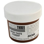 System Three 3202A04 Brown Paste Pigment Coating, 2 Oz. Bottle