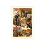 Thos W. Keene As Hamlet Print (Unframed Paper Print 20x30)