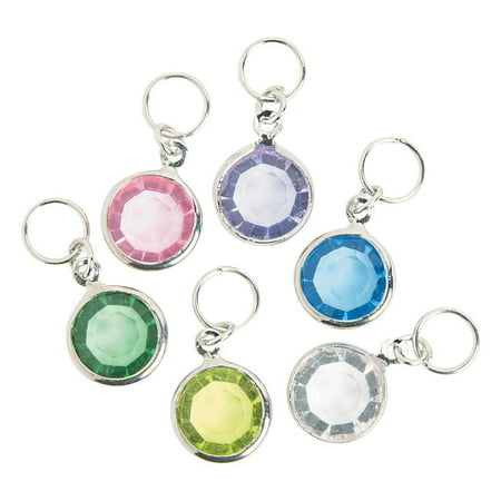 Fun Express - Colorful Dangle Charms - Craft Supplies - Adult Beading - Charms - 12 Pieces