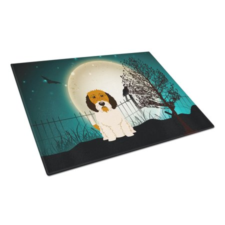 Caroline's Treasures Halloween Scary Petit Basset Griffon Veenden Glass Cutting Board Large - Halloween Svg Cutting Files