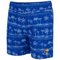 Kansas Jayhawks Colosseum Maui Swim Shorts - Royal