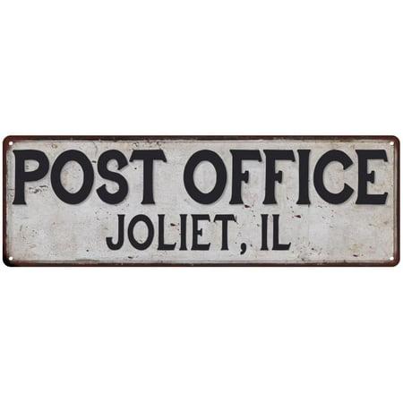 Joliet, Il Post Office Personalized Metal Sign Vintage 6x18 - Party City Joliet Il