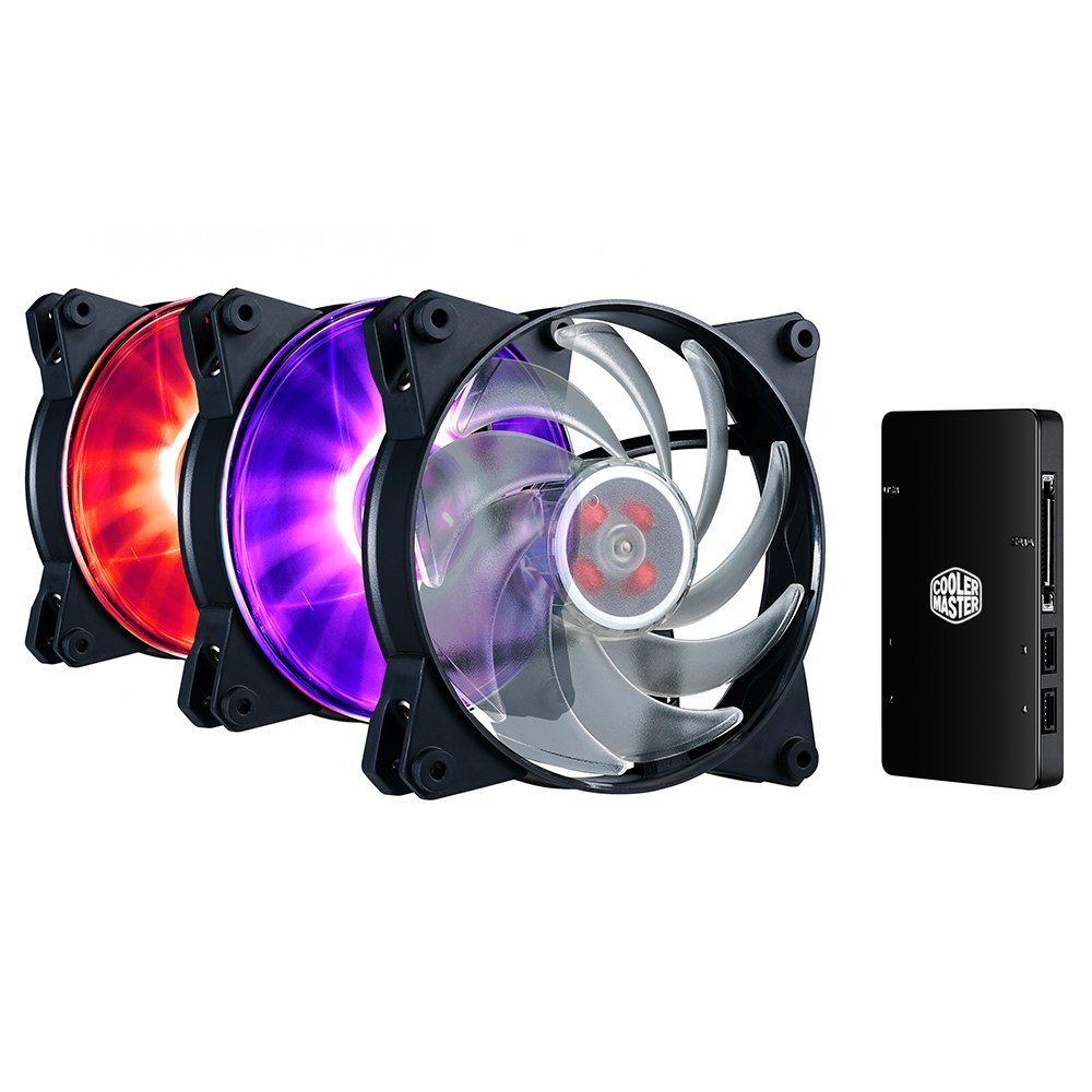 Cooler Master MasterFan Pro 120 Air Balance RGB 3-in-1 with RGB LED Controller