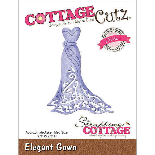 CottageCutz Elites Die Cuts, 2.3 by 3-Inch, Elegant Gown Multi-Colored