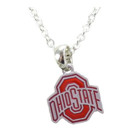 Ohio State Buckeyes Iridescent Red Charm Necklace Jewelry OSU. ()