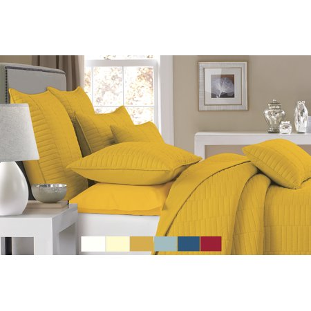 nc home fashions trinity quilt set king spicy mustard