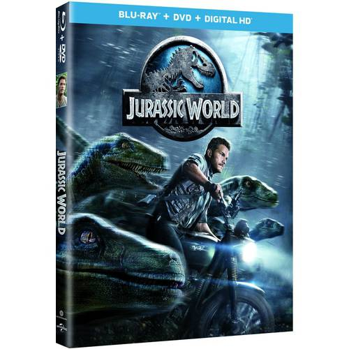 Jurassic World (Blu-ray + DVD + Digital HD) (With INSTAWATCH)