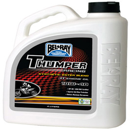 BEL-RAY THUMPER RACING SYN ESTER 4T ENGINE OIL 10W-40