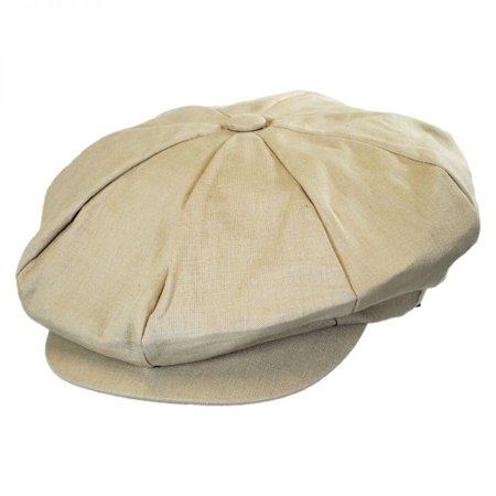 Linen Big Apple Cap - ONE SIZE FITS MOST - Natural (Apple Jack Caps)