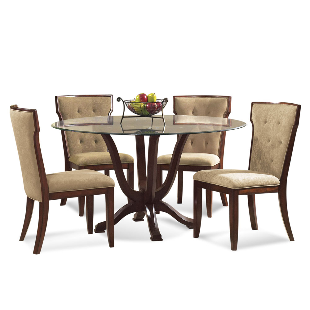 bassett mirror dining table. Bassett Serenity 5 Piece Round Glass Pedestal Dining Room Set - Walmart.com Mirror Table