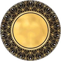 Hollywood 'Glitz and Glam' Extra Large Paper Plates (8ct)