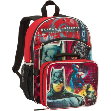97dbd2dc71 DC Comics Batman V Superman Boys Large Backpack With Lunch Box (One size