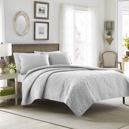 Laura Ashley Felicity Quilt Set, White, Full/Queen (Felicity Rose)