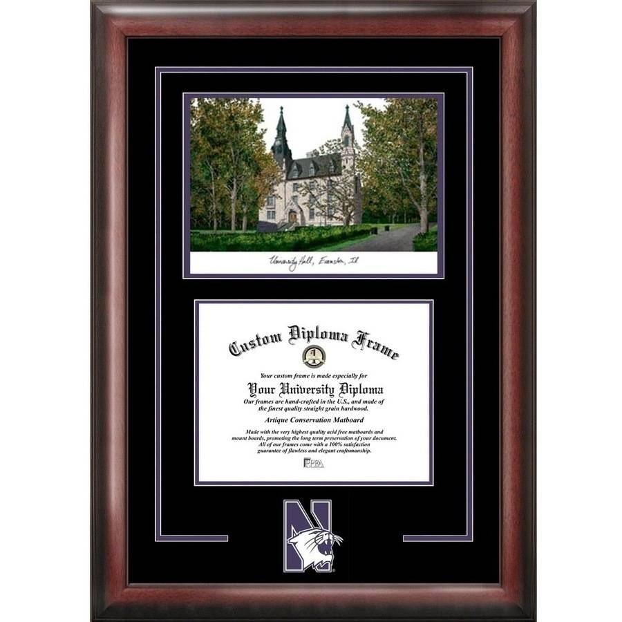 "Northwestern University 8.5"" x 11"" Spirit Graduate Diploma Frame"