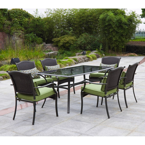 Better Homes And Gardens Providence 7 Piece Outdoor Dining Set, Green, Box 2