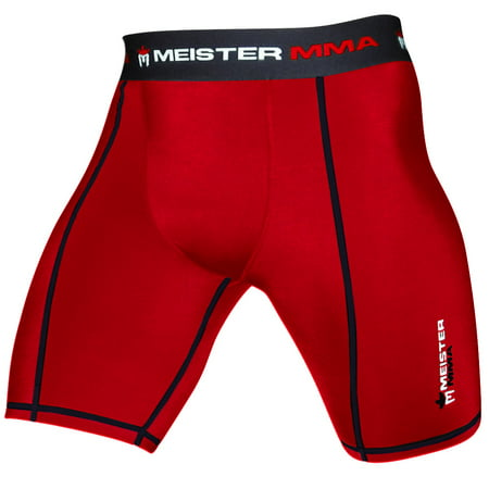 Meister Compression Rush Shorts w/ Cup Pocket - Red -