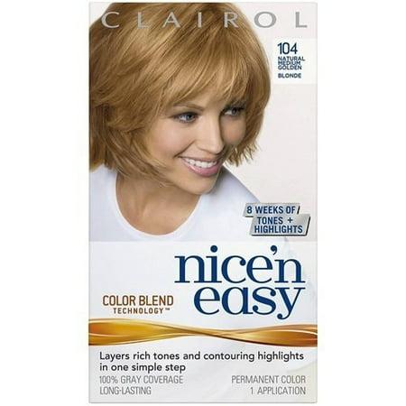 Clairol Nice 'n Easy Permanent Hair Color, Natural Medium Golden Blonde,