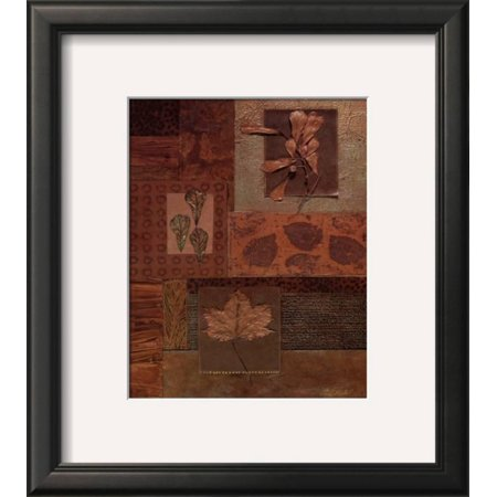 Leaf Collage II Framed Art Print Wall Art  By Merri Pattinian - 14x16