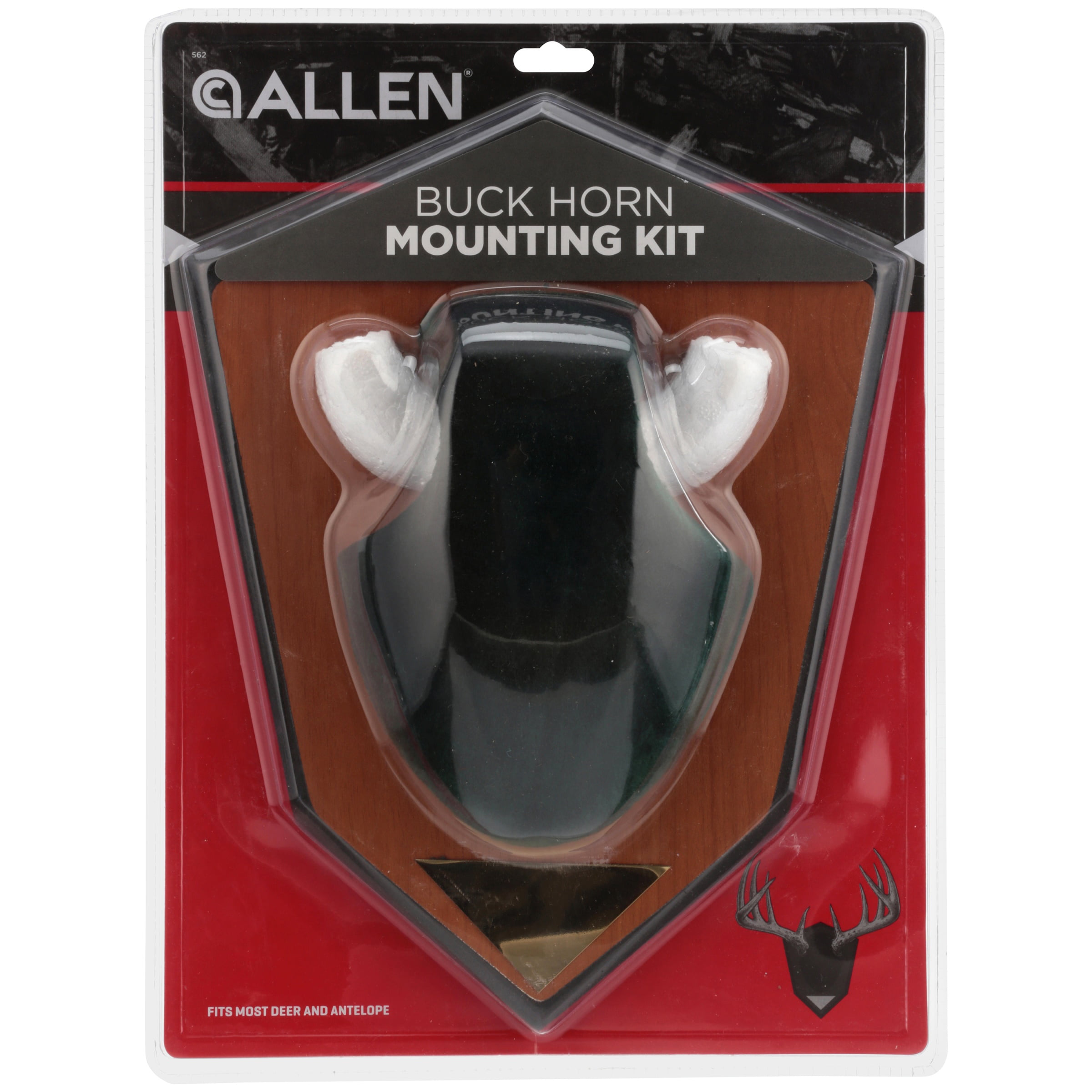 Allen Antler Mounting Kit with Skull Cover /& Engraveable Plaque Green